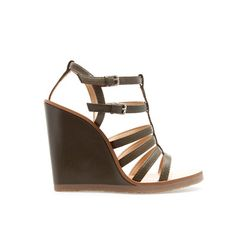 STRAPPY WEDGE SANDAL - Shoes - Woman | ZARA United States