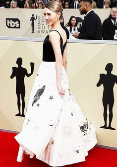 """Natalia Dyer attends the 24th Annual Screen Actors Guild Awards at The Shrine Auditorium on January 21, 2018 in Los Angeles, California. """