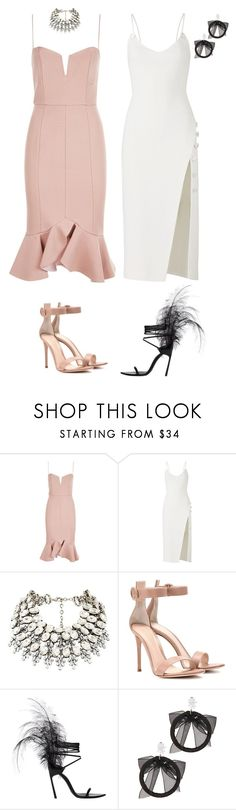 """Untitled #464"" by zahraamuhee ❤ liked on Polyvore featuring Nicholas, David Koma, Gianvito Rossi, Yves Saint Laurent and Fallon"