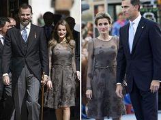 Letizia en 2013 y en 2011 con el mismo vestido Foto: Getty Images