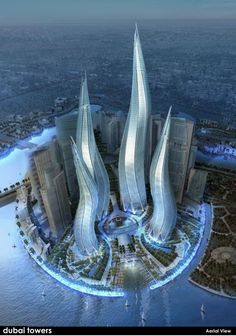 Dubai Towers, The La amazing architecture design Unusual Buildings, Interesting Buildings, Amazing Buildings, Modern Buildings, Dubai Buildings, Futuristic Architecture, Beautiful Architecture, Art And Architecture, Contemporary Architecture