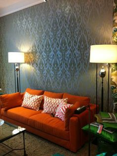 Wallpaper 'Ikat' from JIM THOMPSON in the shop of Eveline Schmitz www.eveline-interieur.nl