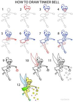 How to Draw Tinkerbell Step by Step