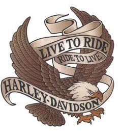 Harley Eagle 2 Temporaray Tattoo by Tattoo Fun. $4.95. Harley Davidson temporary tattoo. Eagle with banner that says Live to Ride, Ride to Live, Harley-Davidson. Sheet size 2 3/4x 4. Tattoo size 2 1/2x 2 1/2.