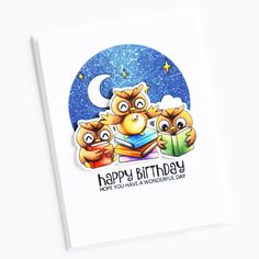 Clearance Sale: was now Mini clear stamp set comprising 12 separate stamps. Wise Owl, Clear Stamps, Layouts, Backdrops, Balloons, Happy Birthday, Cards, Blog, Ideas