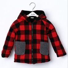 2016 Baby Girls Winter Warm Jacket Kids Cute Christmas Hoodies Coat plaid Costume for Kids Jacket Girl Clothing(China (Mainland))