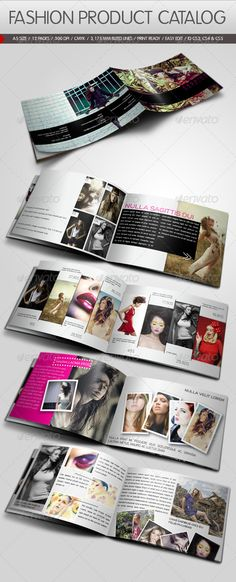 Fashion Product Catalog Design Template - Catalogs Brochure Template InDesign INDD. Download here: https://graphicriver.net/item/fashion-product-catalog/683602?s_rank=708&ref=yinkira