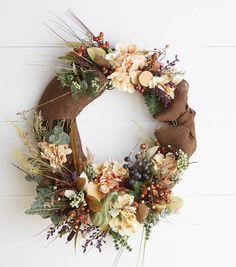 Fall Pre-Made Silk Floral Wreath