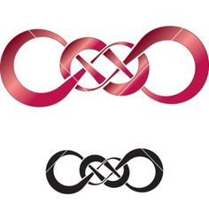 Double Infinity Symbol Tattoo -next tattoo...only purple of course.