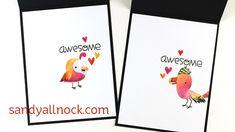Be Awesome Bird Cards – Paper Smooches Baby Birds – Sandy Allnock
