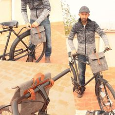 lunch bag for bicycle / Bike Pannier / Bicycle bag in waxed canvas / Bike accessories / lunch bag para bicicleta / accesorio para bicicletas