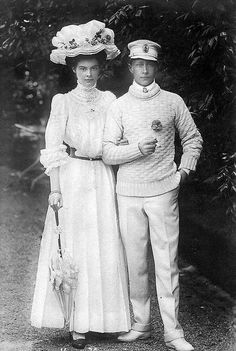 Their Imperial and Royal Highnesses Crown Prince Wilhelm and Crown Princess Cecilie of Germany. Married: June 6, 1905