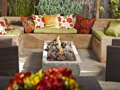 Fire Pit Design Ideas:  From DIYNetwork.com from DIYnetwork.com