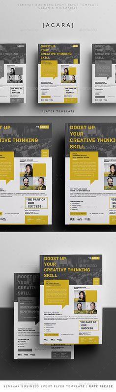 Seminar Business Event Flyer Template PSD. Download here: http://graphicriver.net/item/seminar-business-event-v2/16255564?ref=ksioks