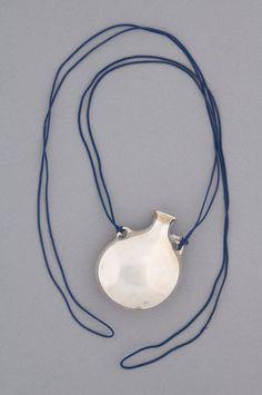 Elsa Peretti for Halston sterling silver vessel necklace, 1975