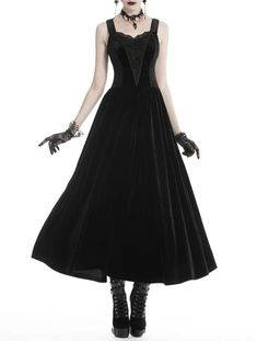 Velvet Dress – Ghoulish Girls Source by ghoulishgirls clothes ideas Witch Fashion, Latex Fashion, Gothic Fashion, Steampunk Fashion, Emo Fashion, Style Fashion, Gothic Gowns, Gothic Outfits, Goth Dress