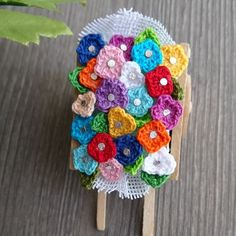 flores tejidas a crochet faciles
