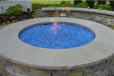 Round Fire Pit Glass Rock Fire Pit Glass Rocks, Fire Glass, Fire Pit Table, Diy Fire Pit, Vented Gas Fireplace, Round Fire Pit, Gas Logs, Outdoor Living, Outdoor Decor