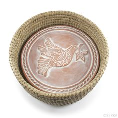 Whitewashed terracotta stone with a Peace Dove design sits within a handwoven kaisa grass basket. Simply heat the terracotta disc in the oven, then place back in the basket to keep your bread warm … Gifts For Friends, Gifts For Her, Trade Wind, Peace Dove, Dry Well, Inexpensive Gift, Hostess Gifts, Fair Trade, Gifts For Women