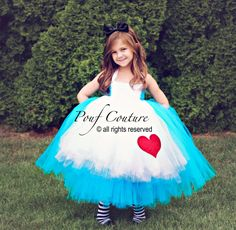 Alice in Wonderland Costume Tutu Dress von PoufCouture auf Etsy