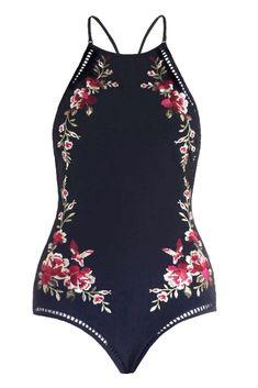 Giambattista Valli One Piece Floral Swimsuit Acheter Des Sites Web À Bas Prix Vente Pas Cher De La France K66NtS