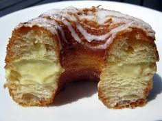 Vanilla Bean Frissant (fritter + croissant) by Swiss Bakery Vancouver Granville Island Vancouver, Cronut, Croissant, Fritters, 10 Years, French Toast, Bakery, Vanilla, Food Porn