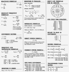 I use a lot of these formulas in the  Electrician Classes I am taking. Good to have around on the Job.