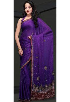 Chiffon embroidery  http://www.utsavfashion.com/saree/purple-faux-chiffon-saree-with-blouse/scv360c-itemcode