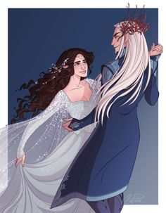 Feast of Starlight Thranduil and Rîneth, another commission for @maggiepuckmeg (you can read the story here)