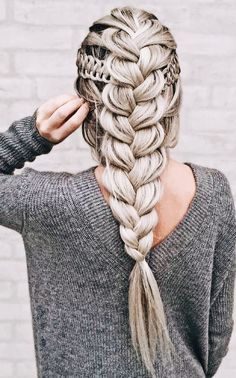 The only braid styles you& ever have to master hair and beauty Braided Hairstyles For Black Women, Straight Hairstyles, Cool Hairstyles, Long Haircuts, Elegant Hairstyles, Teenage Hairstyles, Fashion Hairstyles, Creative Hairstyles, Hairstyle Ideas
