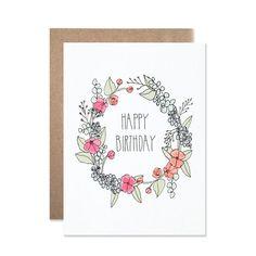 Happy Birthday Cards Handmade, Creative Birthday Cards, Homemade Birthday Cards, Birthday Letters, Birthday Cards For Mom, Bday Cards, Card Birthday, Birthday Wishes, Calligraphy Birthday Card