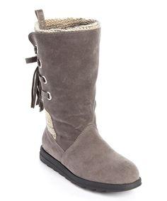 MUK LUKS Gray Luanna Boot - Women | zulily
