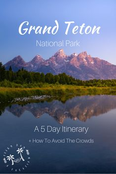 This article will help you plan your trip to the Grand Tetons, Wyoming, plus help give you some tips on how to avoid the crowds! National Parks Usa, Grand Teton National Park, Yellowstone National Park, Travel Guides, Travel Tips, Budget Travel, Travel Photos, Travel Usa, Canada Travel