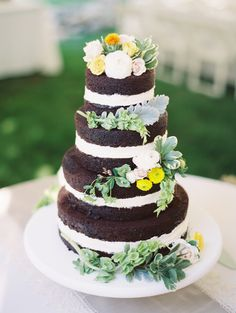Gorgeous photo of my naked cake from Clary Pfeiffer Photography