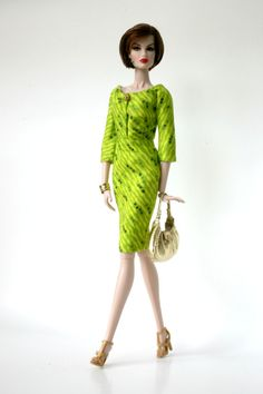 Green Dress for Barbie Silkstone Fashion by ChicBarbieDesigns