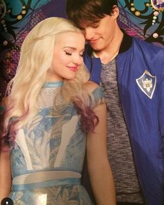 Dove Cameron as Mal and Mitchell Hope as King Ben