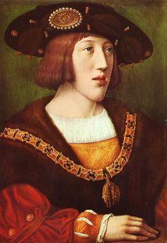 Charles V. - after Bernaerd van Orley - depot Louvre-Musée de Brou, Bourg-en-Bresse - Burgundische Geschichte – Wikipedia — Bernard van Orley