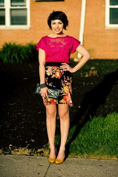 great color and super cute outfit.  by sundaycrossbow, via Flickr