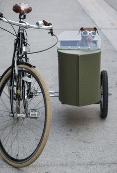 DIY Bicycle Sidecar for Fido. How to build a sidecar for your dog Velo Vintage, Vintage Bicycles, Vintage Hipster, Hipster Man, Cool Bicycles, Cool Bikes, Pimp Your Bike, Bicycle Sidecar, Sidecar