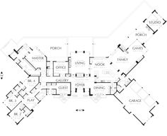 Ranch House Plan First Floor 011S-0003  from houseplansandmore.com