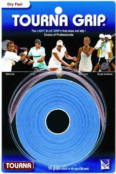 Unique Tourna Original Dry Feel Tennis Grip (10/Roll Pack) by Unique. $10.99. A 10-pack of Tourna-Grip® is perfect for your tennis bag. Since each strip of Tourna-Grip® is individually wrapped, the grips stay in perfect condition until ready for use.. Save 39%!