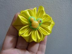 como elaborar flores faciles en cinta para el cabello paso a paso Manualidadeslahormiga - YouTube