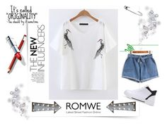 """""""Romwe"""" by malina-husgovic ❤ liked on Polyvore featuring See by Chloé and Creative Co-op"""