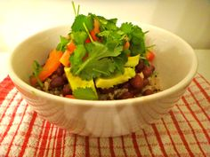 Easy Mexican Rice Quinoa Bowl @ Julia & Libby