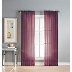 These white sheers never go out of style! If you want to divide the large space in your rooms, then you must check out Spiffy spools collection. Scarf Curtains, White Sheer Curtains, Sheer Curtain Panels, Long Curtains, Grommet Curtains, Panel Curtains, Curtain Shop, Window Sheers