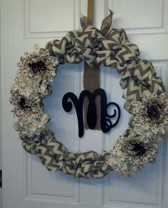 I made my very first Burlap wreath!