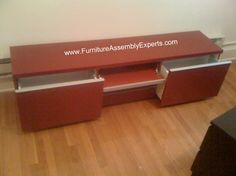 ikea Tv stand assembled at The Ellington apartments in Washington DC by Furniture Assembly Experts Company