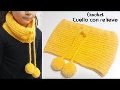Bufandas Niña – DIY & Crafts – Knitting For Beginners Crochet Hood, Crochet Poncho, Crochet Scarves, Crochet Clothes, Crochet Baby, Tricot Simple, Diy Crafts Knitting, Tunisian Crochet Stitches, Baby Hats Knitting