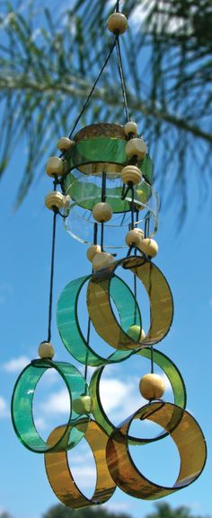 The Best one of Glass Wind Chimes Bottle Crafts Ideas 05 on my Articles, Glass Wind Chimes Bottle Crafts. Extraordinary Glass Wind Chimes Bottle Crafts You Can Pick. Recycled Glass Bottles, Glass Bottle Crafts, Wine Bottle Art, Cut Bottles, Wine Bottle Garden, Wine Bottle Windchimes, Cutting Bottles, Bottle Candles, Empty Bottles