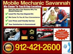 Mobile Mechanic Savannah, Georgia Auto Car Repair and Pre purchase Vehicle Inspection Near Me